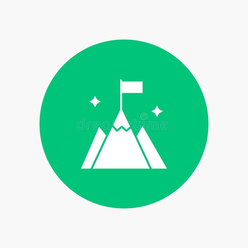 Góra, flaga, użytkownik, interfejs ilustracja wektor