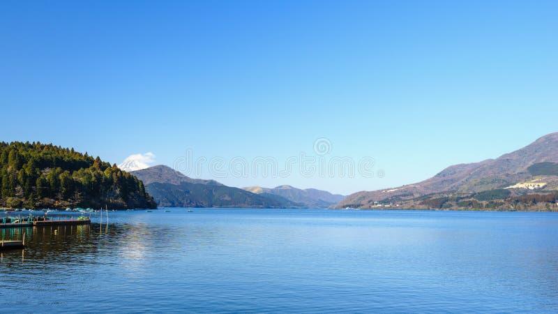 Góra Fuji, Jeziorny Ashinoko, Hakone, Japonia obraz stock