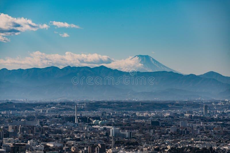 Góra Fuji Od obserwacja pokładu Shinjuku zdjęcie royalty free
