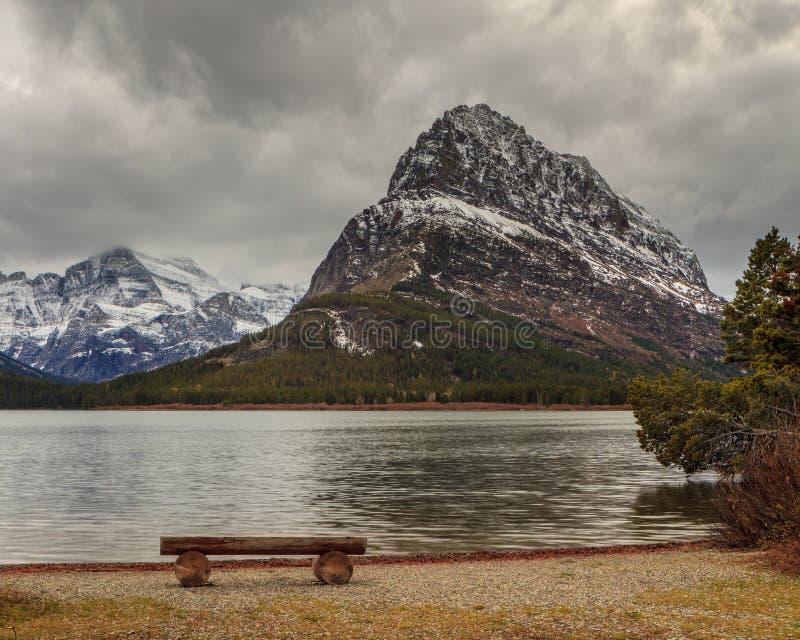 Góra Grinnell w lodowa parku narodowym fotografia stock