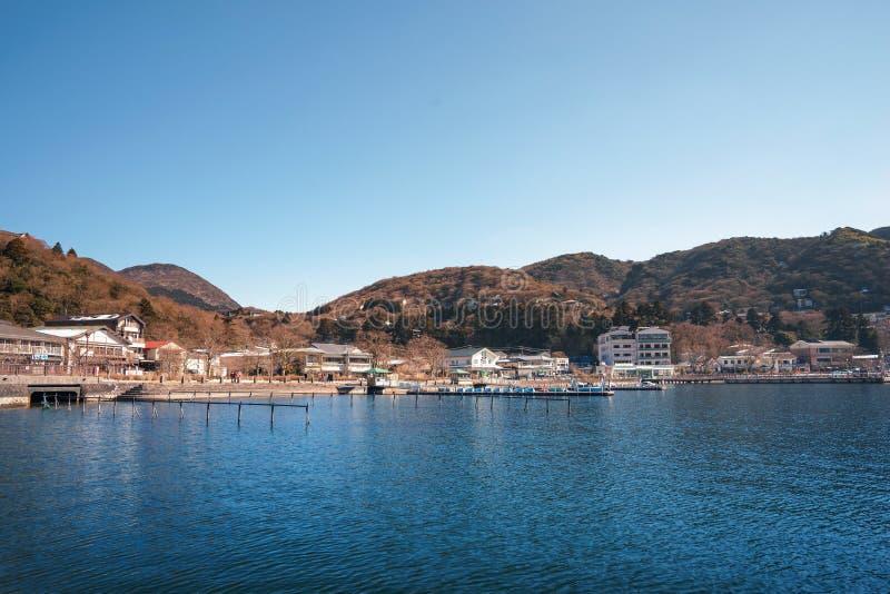 Góra Hakone lub jezioro Ashi, Japonia obraz royalty free