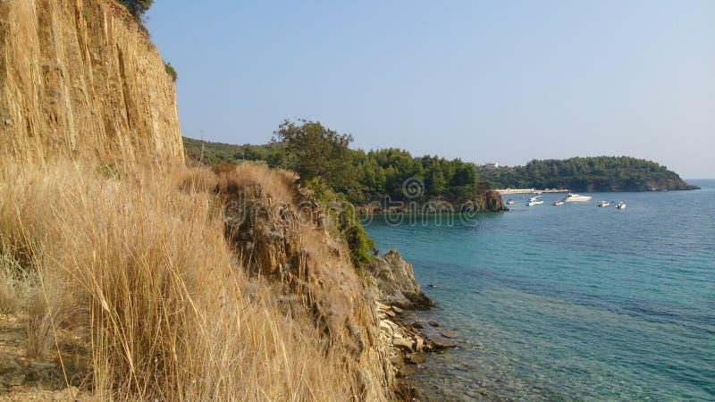 Góra i morze zdjęcie stock