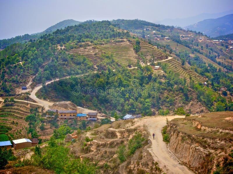 Góra jechać na rowerze w Nepal obrazy royalty free