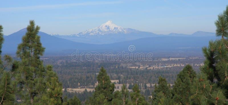 Góra Jefferson od Awbrey Butte obraz stock