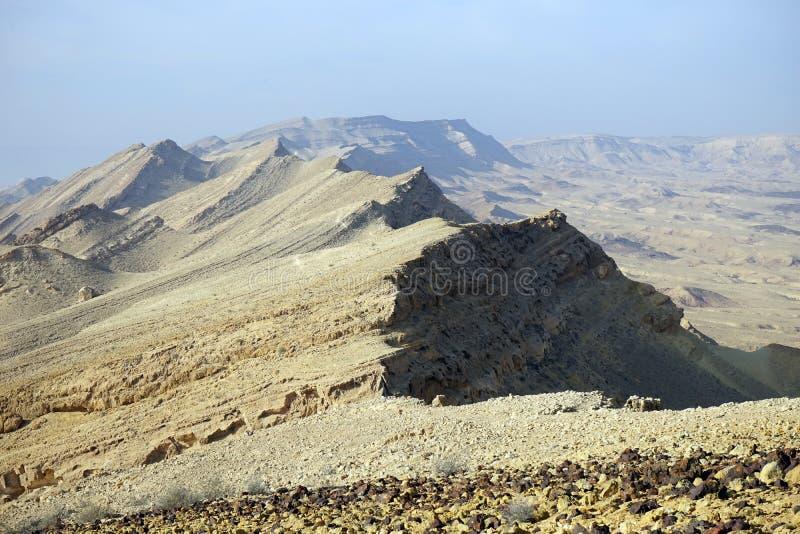 Góra Karbolet w pustynia negew fotografia royalty free