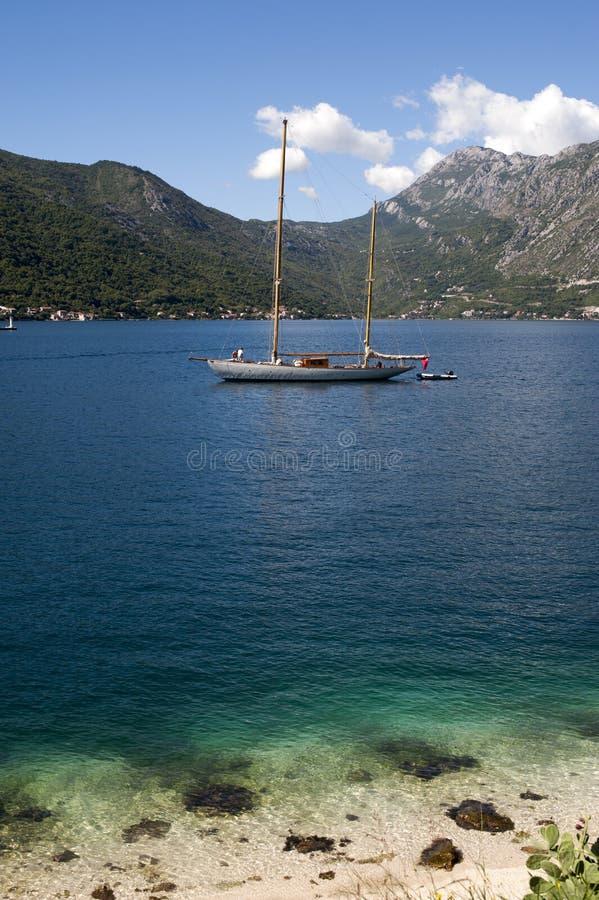Góra krajobraz Kotor zatoka, Montenegro zdjęcie stock