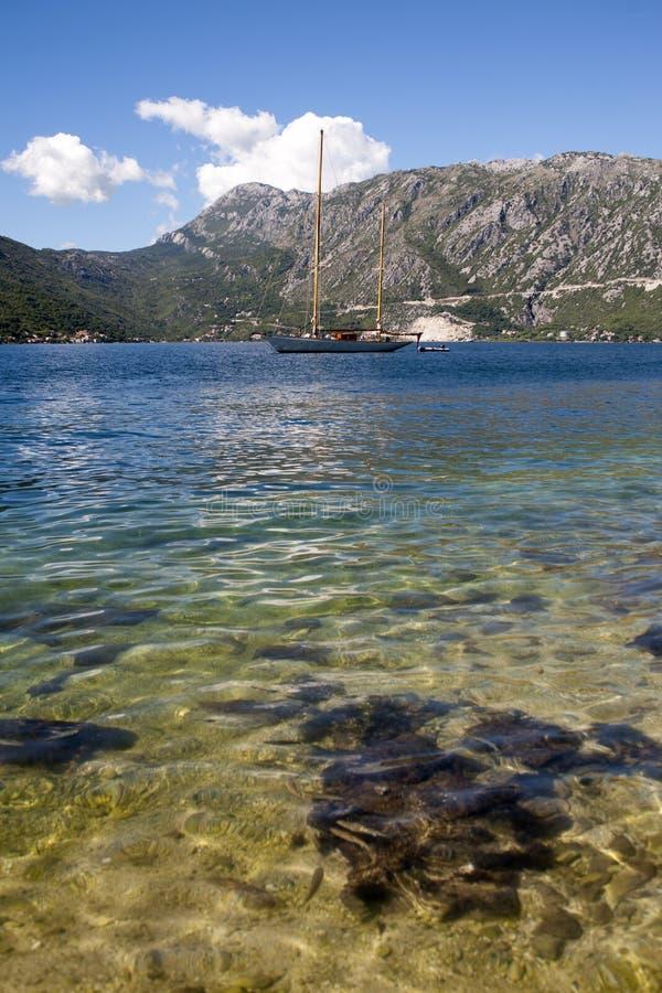 Góra krajobraz Kotor zatoka, Montenegro obrazy royalty free