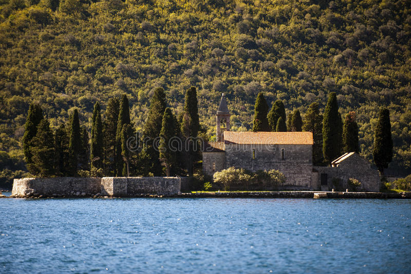 Góra krajobraz Kotor zatoka, Montenegro obraz royalty free