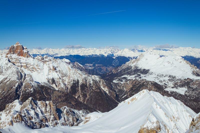 Góra krajobraz obok Cortina d «Ampezzo W?ochy zdjęcia royalty free