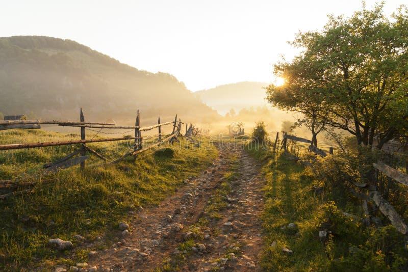 Góra krajobraz, piękno natura fotografia stock