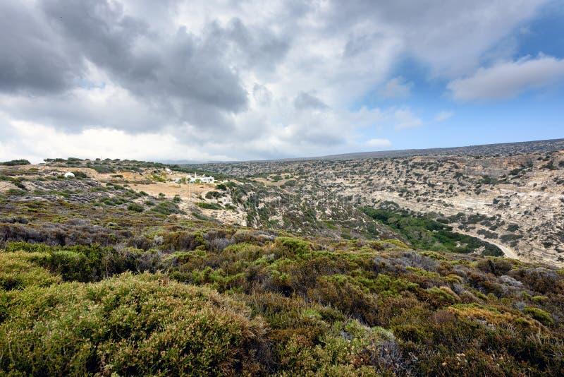 Góra krajobraz przy wschodnią częścią Crete wyspa, Grecja obraz stock