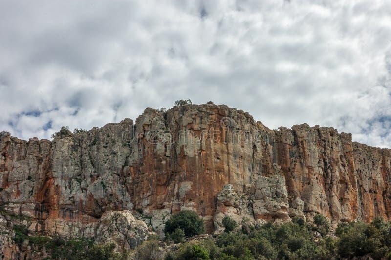 Góra krajobraz przy zmierzchem, Maroko, Khenifra obraz stock