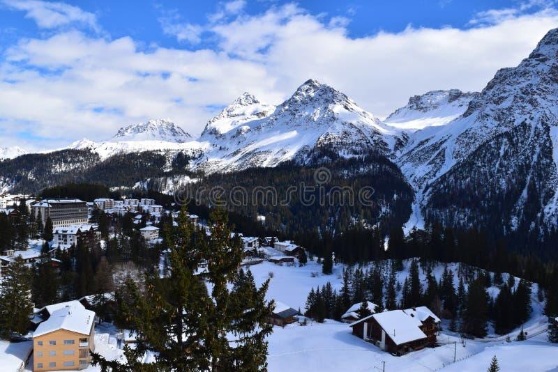 Góra krajobraz w Arosa obraz royalty free