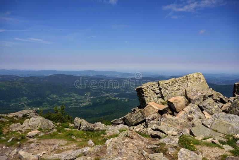 Góra krajobraz w Tatrzańskim, Polska obrazy royalty free