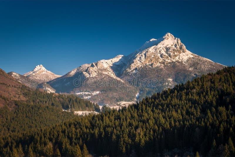 Góra krajobraz w zima sezonie obrazy stock