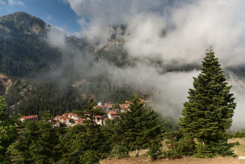 Góra krajobrazowy środkowy Grecja, Karpenisi region fotografia royalty free