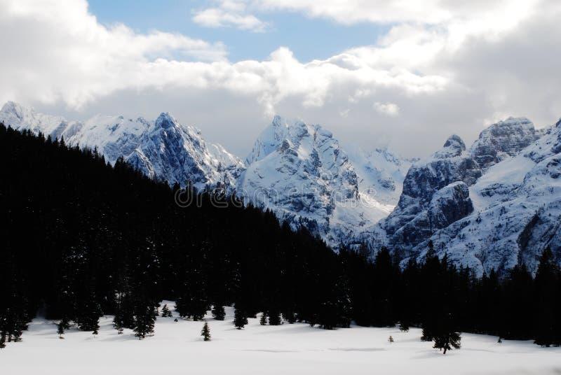 Góra Krajobrazowy Dolomiti zdjęcia stock