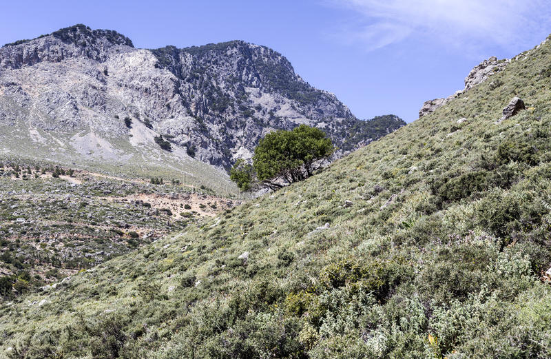 Góra krajobrazowy Grecja obraz stock