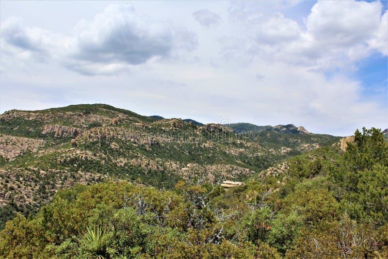Góra Lemmon, Santa Catalina góry, Coronado las państwowy, Tucson, Arizona, Stany Zjednoczone obraz stock