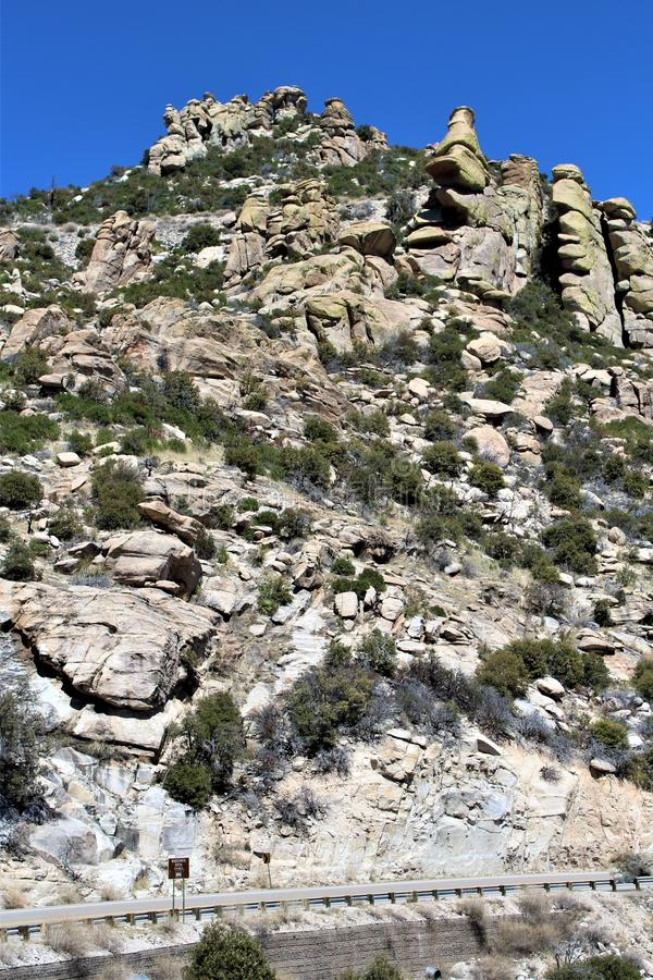 Góra Lemmon, Tucson, Arizona, Stany Zjednoczone obraz royalty free