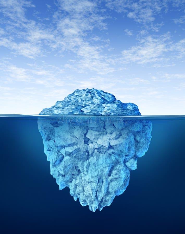 Góra lodowa ilustracji