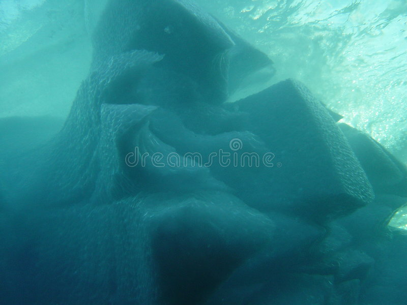 góra lodowa 3 podwodna obrazy stock