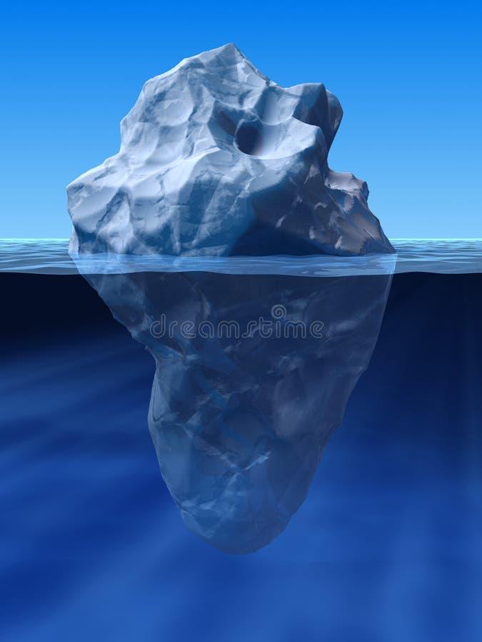 góra lodowa royalty ilustracja