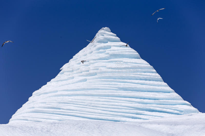 Góra lodowa blisko St Anthony, wodołaz zdjęcia royalty free
