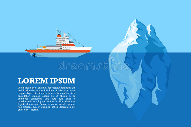 Góra lodowa i statek royalty ilustracja