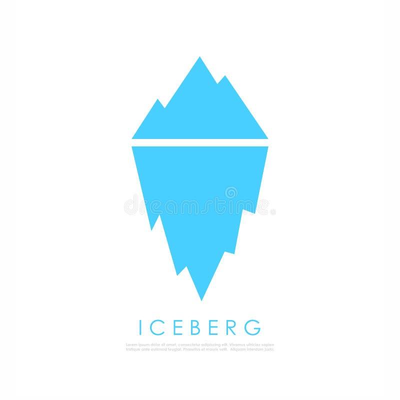 Góra lodowa wektoru ikona ilustracja wektor