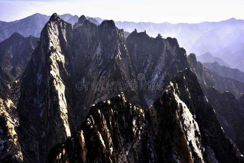 Góra lokalizować przy Chiny zdjęcia stock