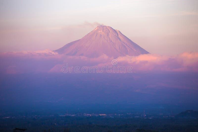 Góra Merapi obraz royalty free