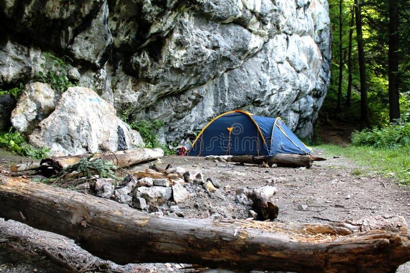 Góra obóz fotografia royalty free