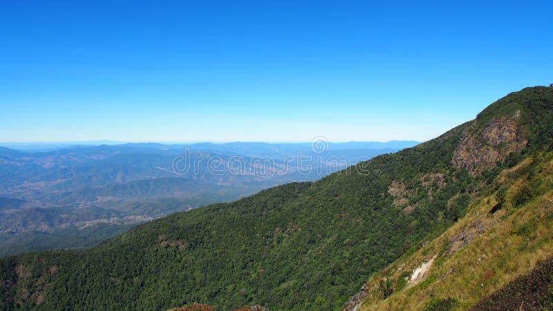 Góra od Północnego Tajlandia fotografia stock
