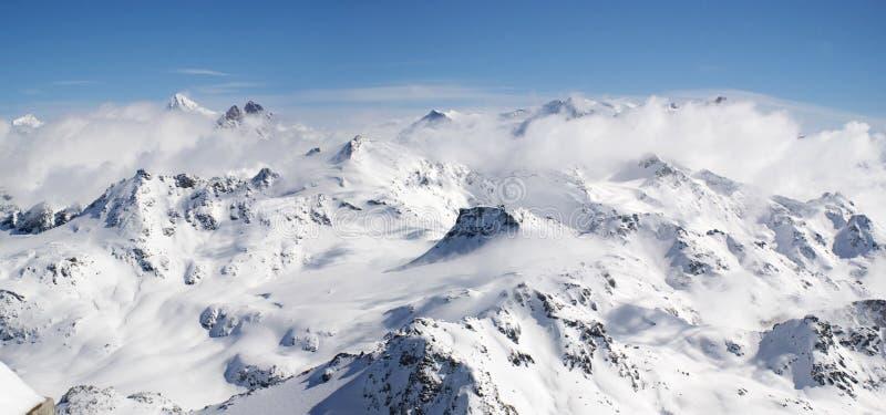 góra panoramiczny widok. obrazy stock