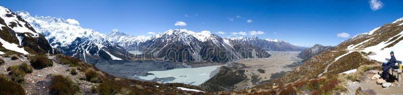 Góra panoramiczny widok Cook zdjęcia stock