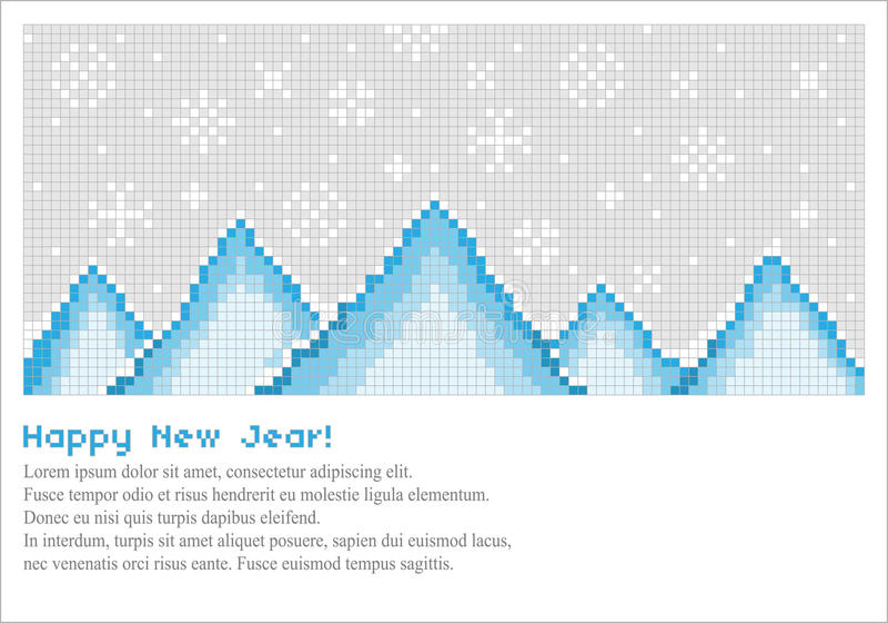 góra piksel royalty ilustracja