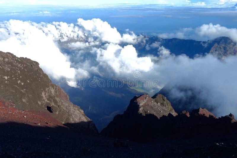 Góra Rinjani trekking obrazy stock