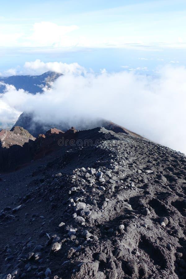 Góra Rinjani trekking obraz stock