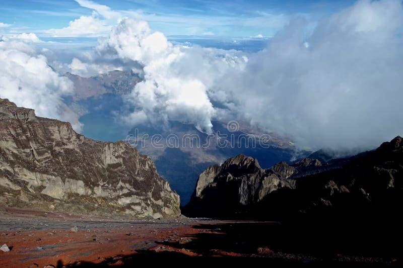 Góra Rinjani trekking obraz royalty free