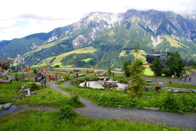 Góra sensy w Alps Halnych zdjęcia royalty free