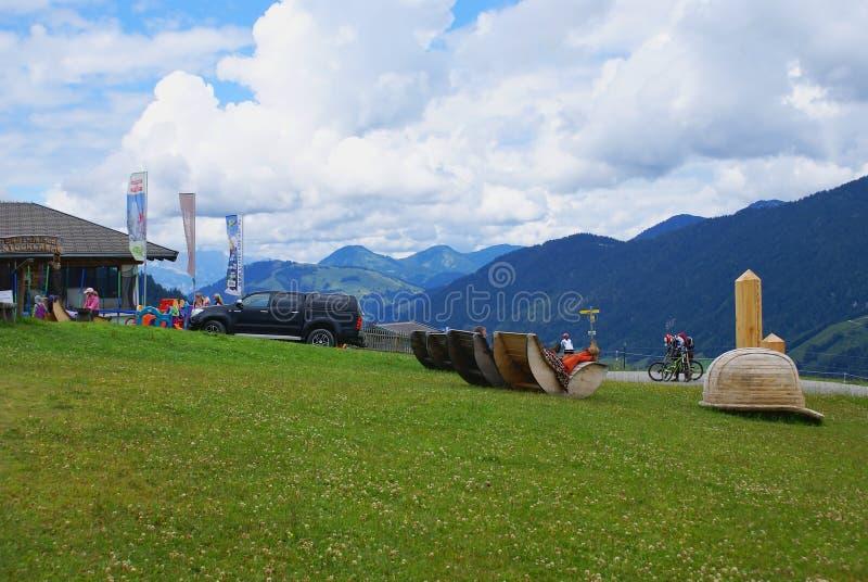 Góra sensy w Alps Halnych zdjęcie royalty free