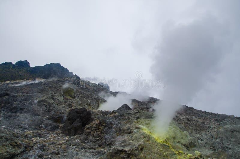 Góra Sibayak, Północny Sumatra, Indonezja obraz stock