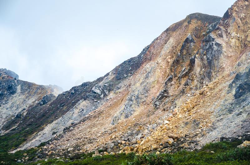 Góra Sibayak, Północny Sumatra, Indonezja fotografia royalty free