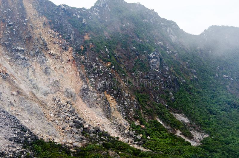Góra Sibayak, Północny Sumatra, Indonezja zdjęcia stock
