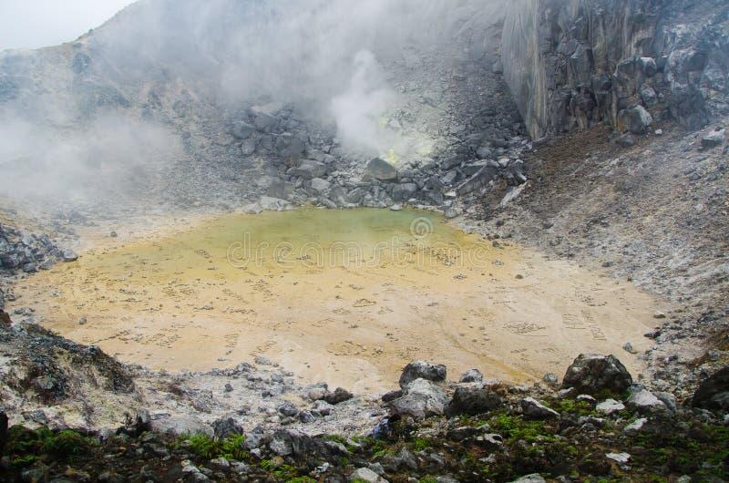 Góra Sibayak, Północny Sumatra, Indonezja obraz royalty free