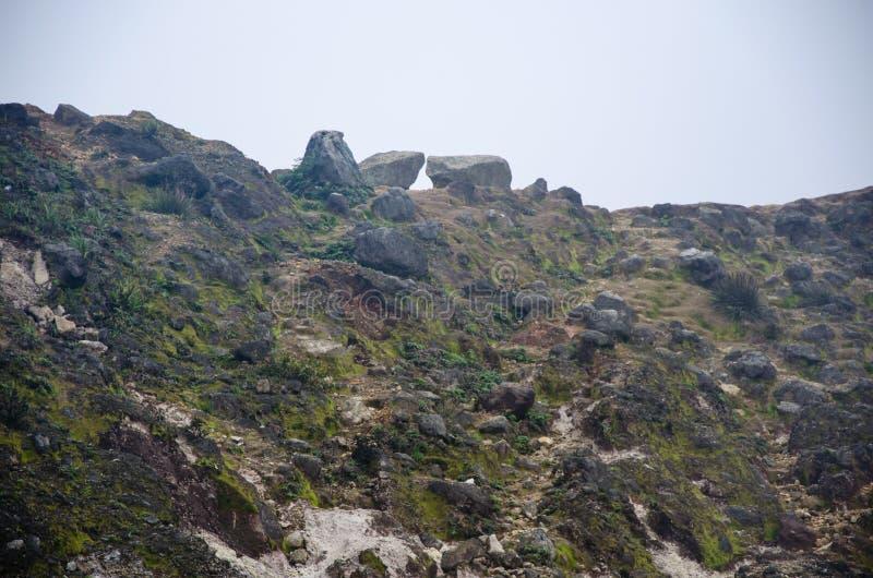 Góra Sibayak, Północny Sumatra, Indonezja obrazy royalty free