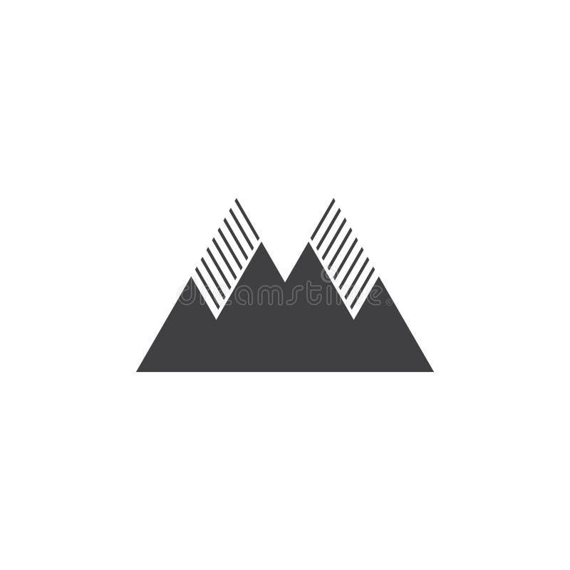 Góra symbolu podeszczowej sylwetki logo plenerowy wektor ilustracji