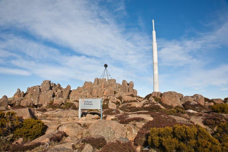 góra szczyt Wellington obraz royalty free