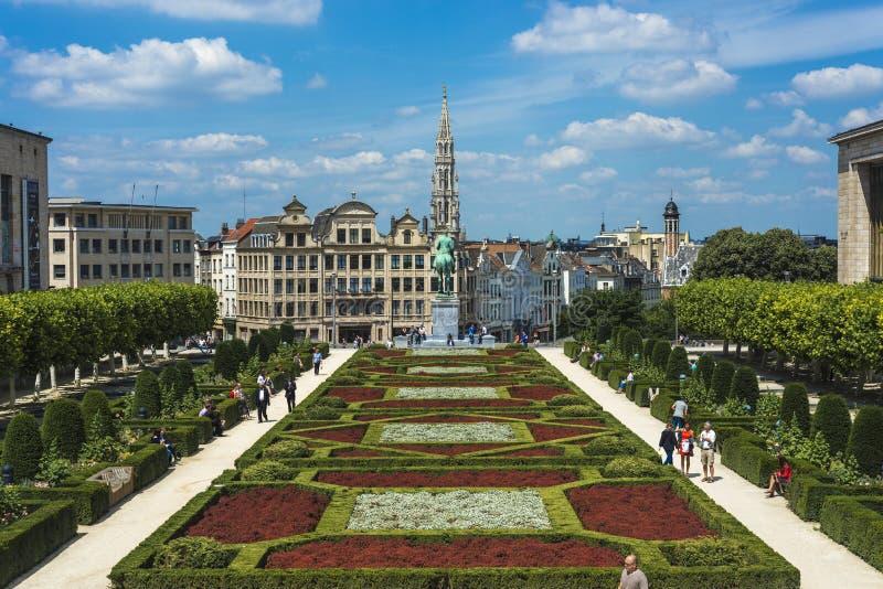 Góra sztuki w Bruksela, Belgia fotografia royalty free